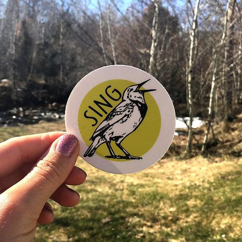 Sing Western Meadowlark Sticker