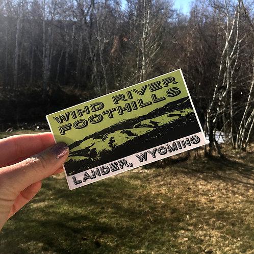 Wind River Foothills Sticker