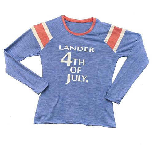Lander 4th of July Ladies Long Sleeve Tee