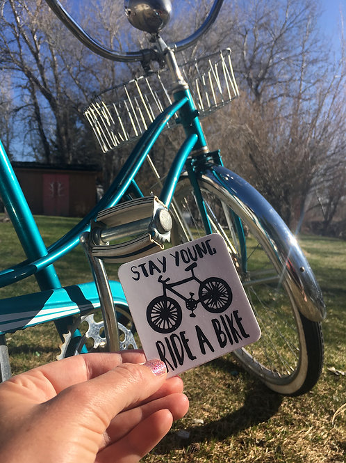 Stay Young Ride a Bike Sticker