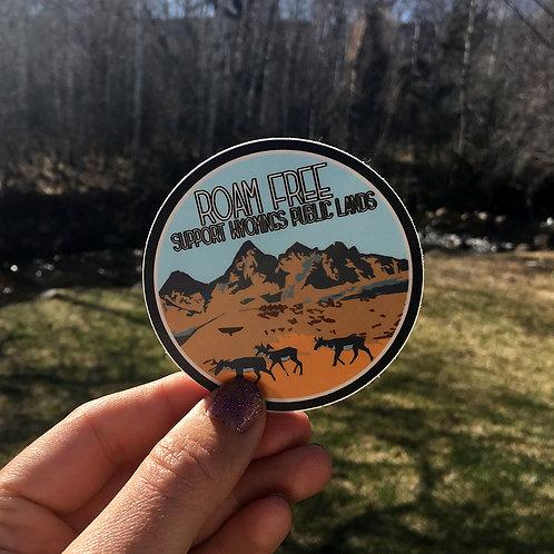 Roam Free Support Public Lands Sticker