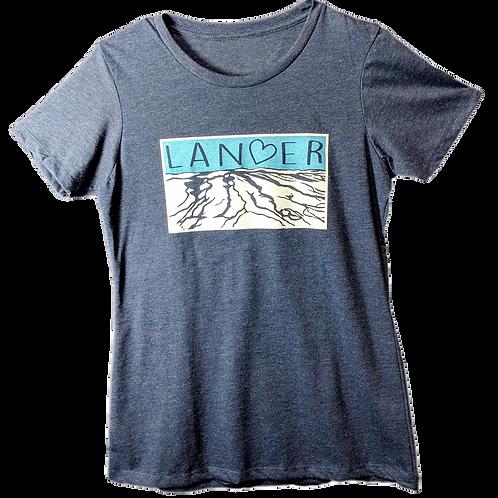 Lander Heart Ladies  T-Shirt