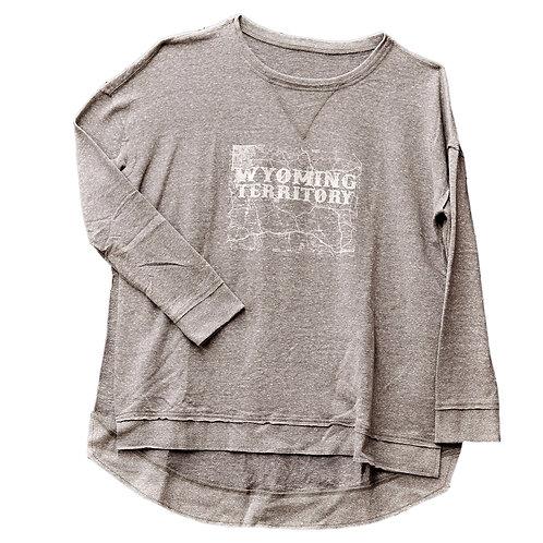 Wyoming Territory Ladies Flowy Sweatshirt