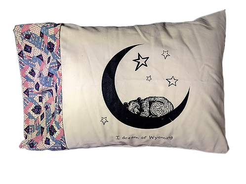 I Dream of Wyoming Bear on the Moon Pillowcase