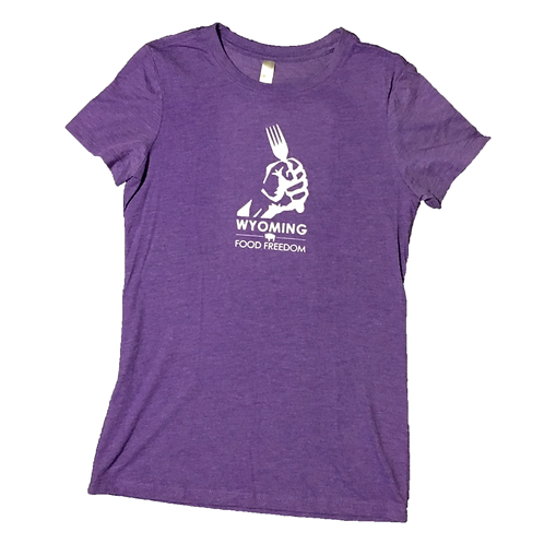 Wyoming Food Freedom Ladies T-shirt