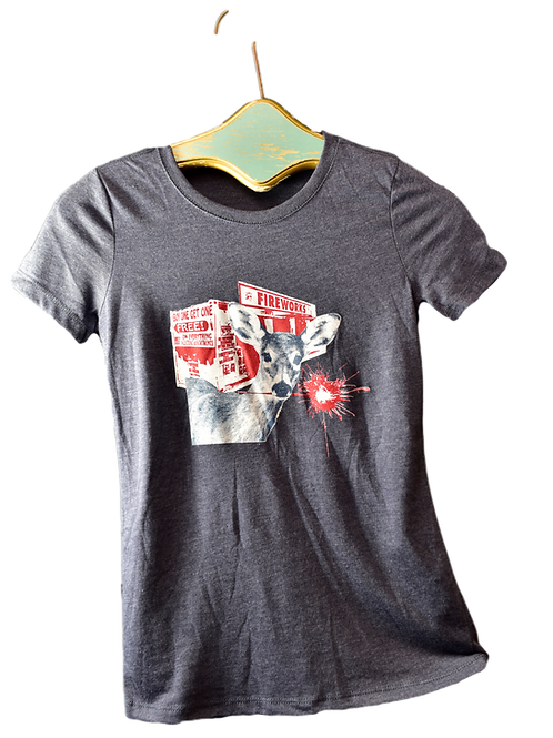 Darn Deer Ladies T-Shirt