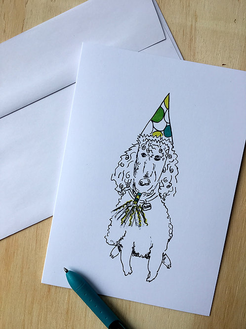 Pearl the Birthday Poodle Card