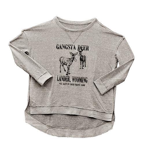 Gangsta Deer Ladies Flowy Sweatshirt