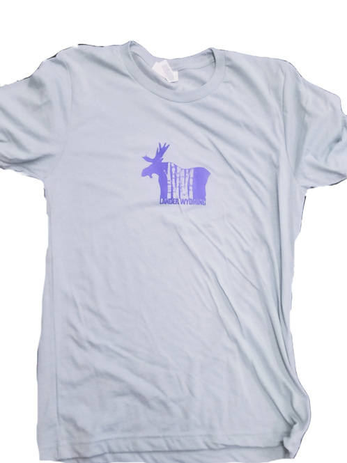 Moose Unisex T-shirt purple print