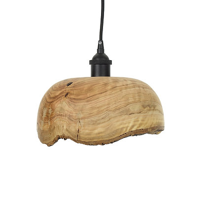 Olive wood ceiling light LB87