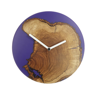 Olive wood n epoxy wall clock C28oa05