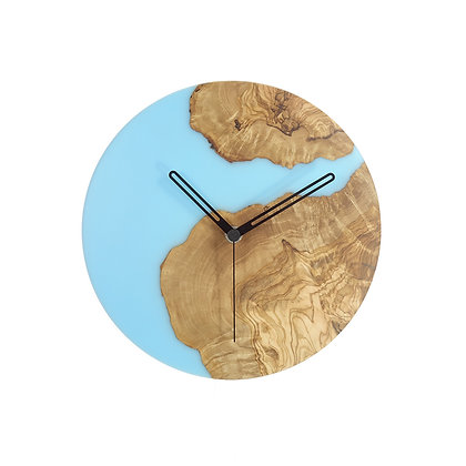 Olive wood n epoxy wall clock C24ol12
