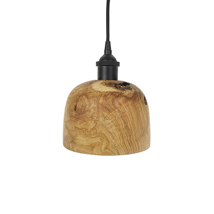 Olive wood pendant light L07