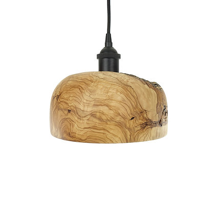 Olive wood ceiling light L09
