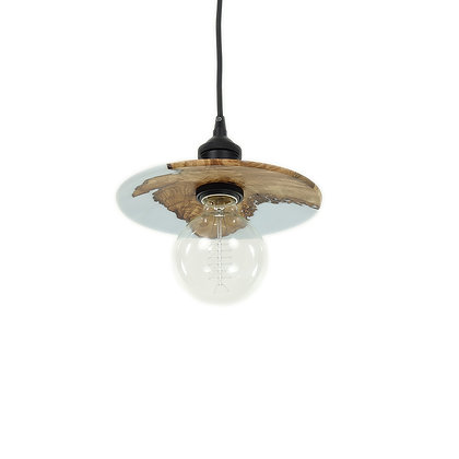 Olive wood pendant light RLP46