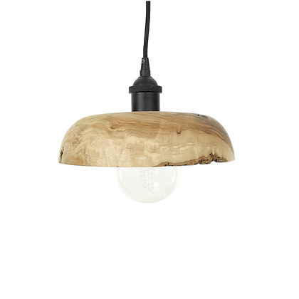 Olive wood pendant light L08