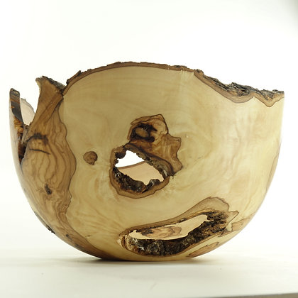 Olive wood bowl B18 - live edge bowl 22x13