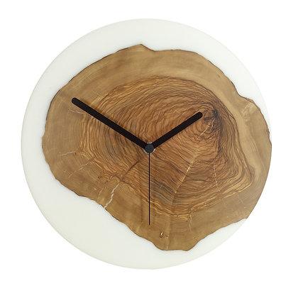 Olive wood n epoxy wall clock C28ol15
