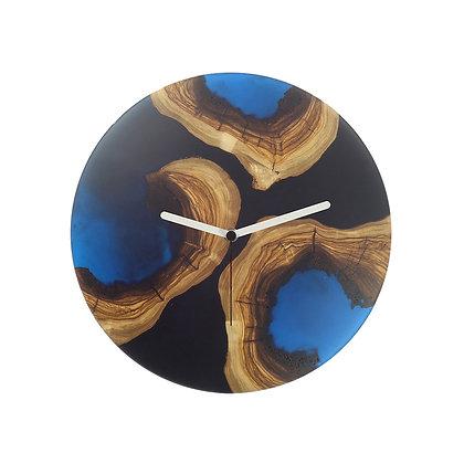 Olive wood n epoxy wall clock C30ol67