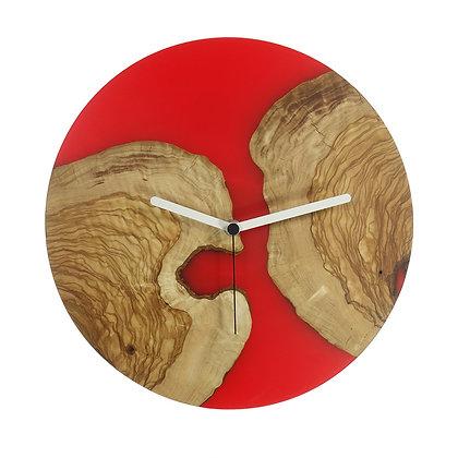 Olive wood n epoxy wall clock C30ol63