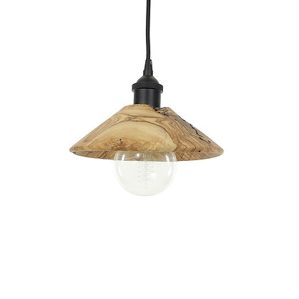 Olive wood pendant light L10