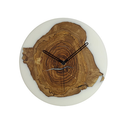 Olive wood n epoxy wall clock C26ol53