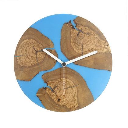 Olive wood n epoxy wall clock C28ol49