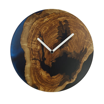Olive wood n epoxy wall clock C30ol64
