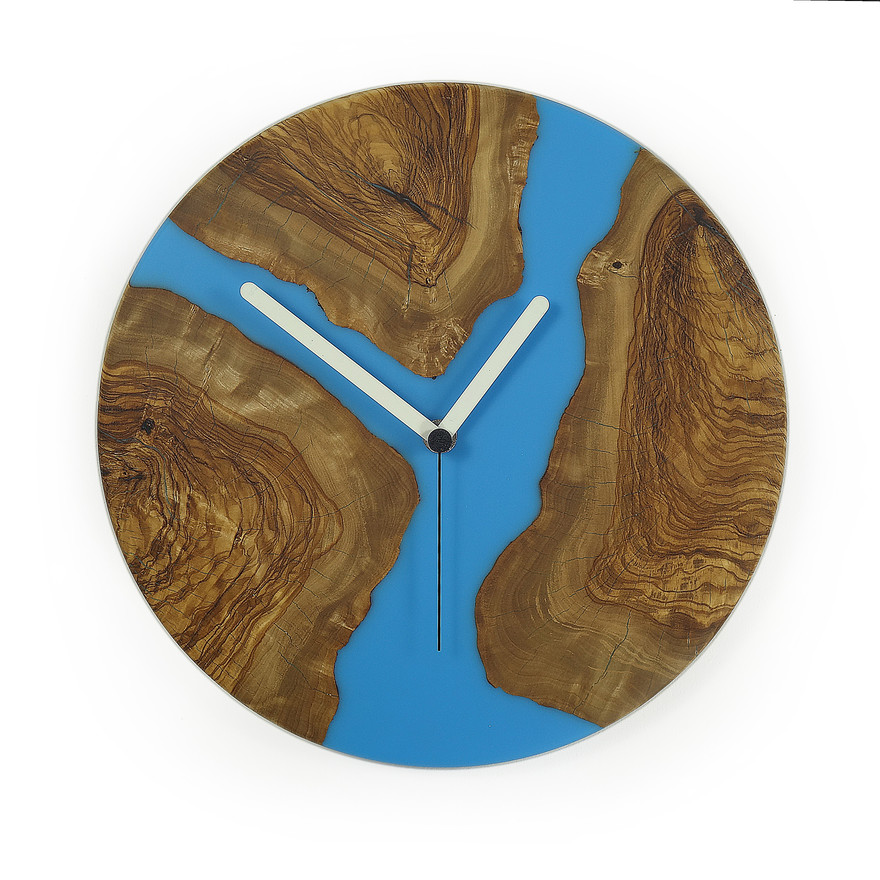 epoxy and olive modern wall clock c28ol0