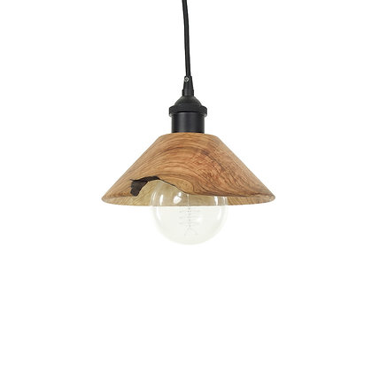 Olive wood pendant light LB77