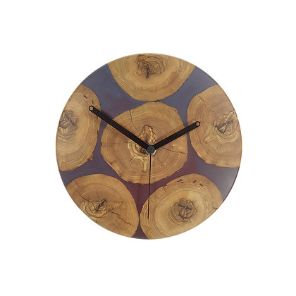 Olive wood n epoxy wall clock C24ol27