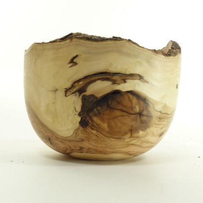 Olive wood bowl B22- live edge bowl 16x12