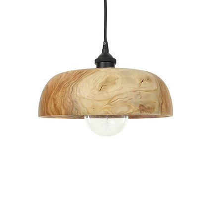 Olive wood ceiling light LB86