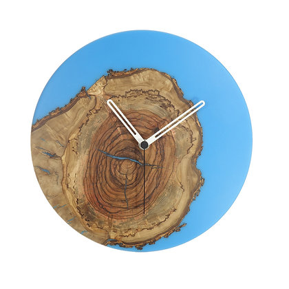 Olive wood n epoxy wall clock C28ol47