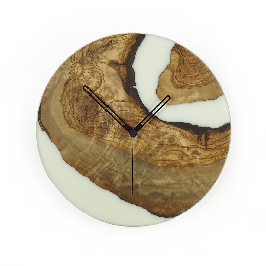 olive n epoxy handmade wall clock c26ol1