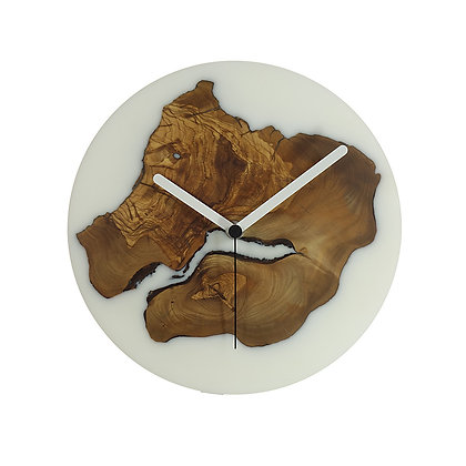 Olive wood n epoxy wall clock C24ol58