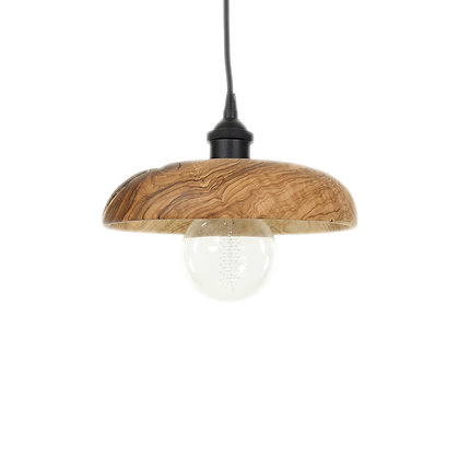 Olive wood ceiling light LB82