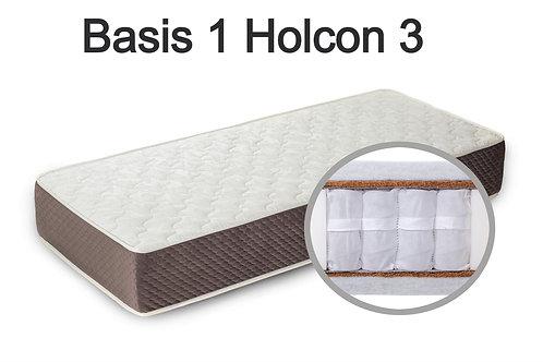"""""""Basis 1 Holcon 3"""". Вес до 120 кг.  Высота 23 см.  Жесткость средняя."""