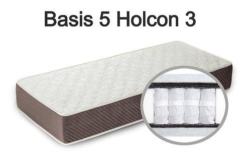 """""""Basis 5 Holcon 3"""". Жесткость ниже средней  Вес до 120 кг  Высота 24 см"""
