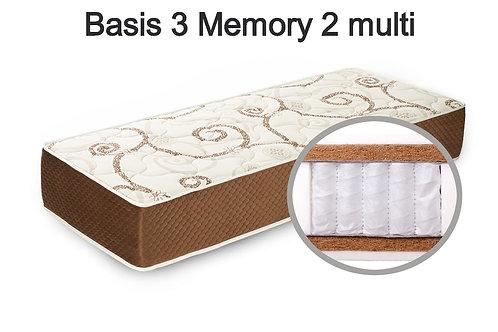Basis 3 Memory 2multi Вес до 140 кг. Высота 26 см. Жёсткость жёсткий.