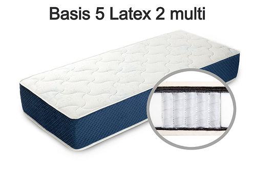 Basis 5 Latex 2 multi Вес до 140 кг. Высота 22 см. Жёсткость средняя.