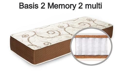 Basis 2 memory 2 multi Вес до 140 кг. Высота 24 см. Жесткость выше средней.