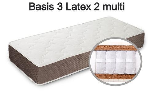 Basis 3 Latex 2 multi Вес до 140 кг. Высота 26 см. Жёсткость жёсткий.