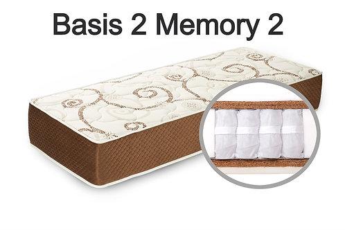 """""""Basis 2 Memory 2"""". Вес до 120 кг.  Высота 23 см.  Жесткость выше средней."""