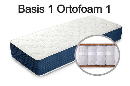 """""""Basis 1 Ortofoam 1"""". Вес до 120 кг.  Высота 19 см.  Жесткость средняя."""