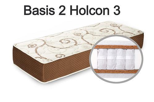 """""""Basis 2 Holcon 3"""". Вес до 120 кг.  Высота 25 см.  Жесткость выше средней."""