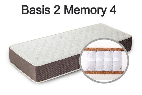"""""""Basis 2 Memory 4"""". Вес до 120 кг.  Высота 27 см.  Жесткость выше средней."""