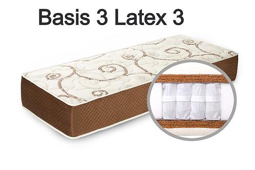 """""""Basis 3 Latex 3"""". Вес до 120 кг.  Высота 27 см.  Жесткость высокая."""