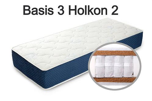 """""""Basis 3 Holkon 2"""". Вес до 120 кг.  Высота 25 см.  Жесткость высокая."""