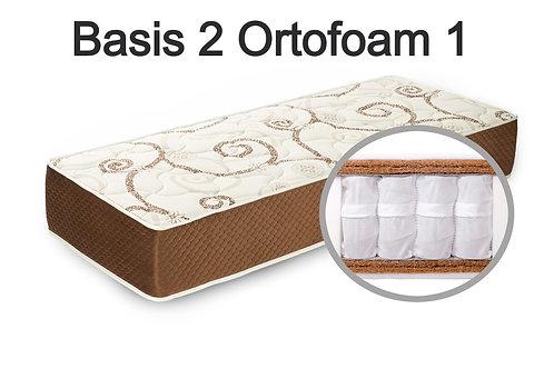 """""""Basis 2 Ortoform 1"""". Вес до 120 кг.  Высота 21 см.  Жесткость выше средней."""